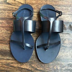 Jil Sander Navy Sandals Flats Size 7.5 New